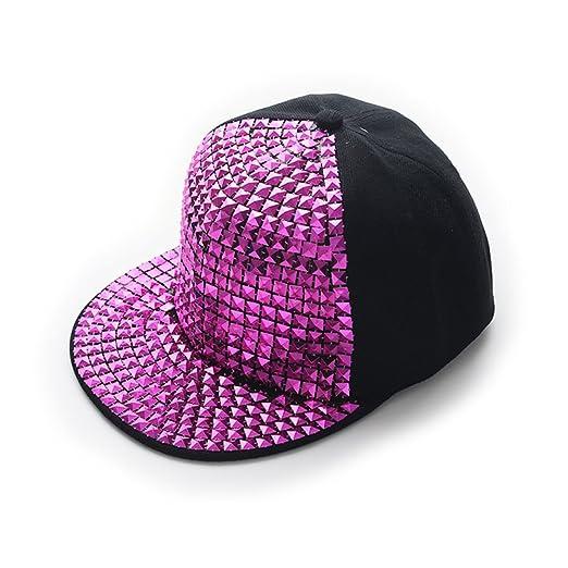 AStorePlus Pyramid Studs Bling Punk Hip-hop Snapback Cap Spike Rivet Spiky Studded  Baseball Hat 3ebf9b5aef24