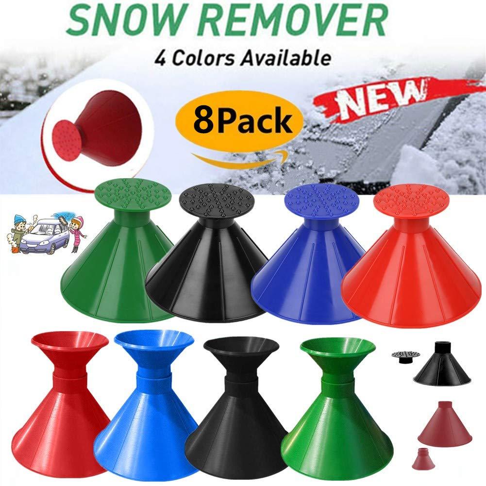 Boscoraggio Magic Scraper Round - Ice Scrapers Magic Funnel Snow Removal Tool Windshield Cone-Shaped Car (8Pack) by Boscoraggio