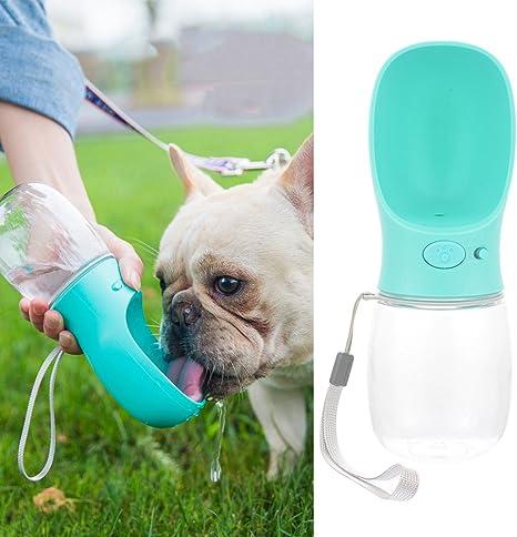 Resina Pl/ástica ABS Ambiental Botella de Agua para Perro Botella Port/átil de agua Potable para Mascotas al Aire Libre Azul