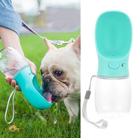 laamei Bebedero para Mascotas Portátil Botellas de Agua para Perros Gatos Dispensador de Agua Adecuado para