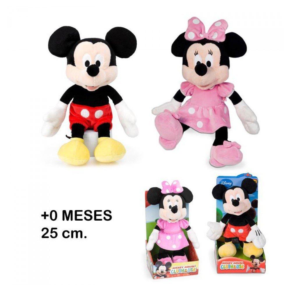 Mickey Mouse Clubhouse clásico - Muñeco de peluche original, 25 cm (modelos surtidos: Mickey / Minnie): Amazon.es: Juguetes y juegos