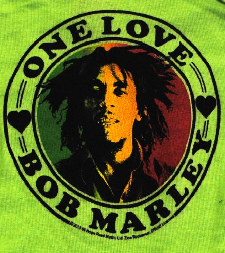 Bob Marley Infant Baby One Love Onesie Green 12M by Bob Marley (Image #2)