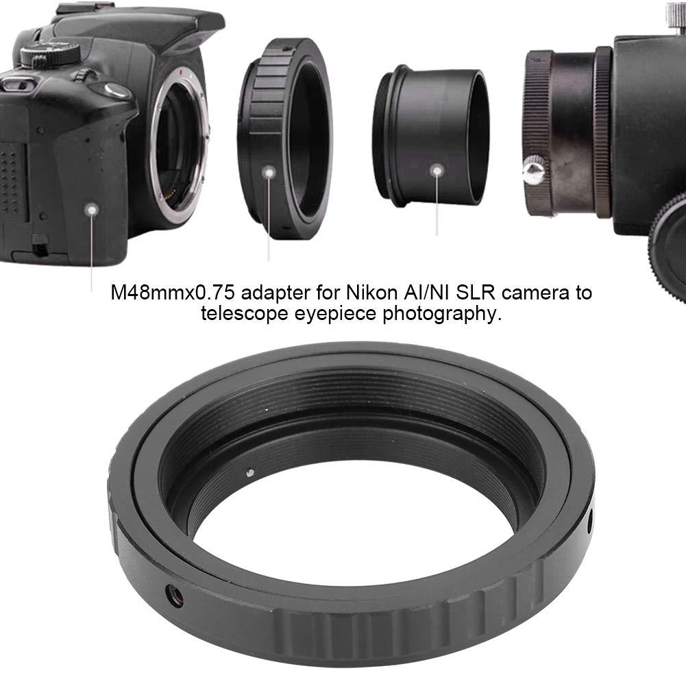 aleaci/ón de Aluminio Universal Abertura Manual Anillo de Adaptador de Control de Enfoque para Nikon F Topiky Astronom/ía Telescopio T M48 0.75 Anillo Adaptador de Ocular para Canon EOS