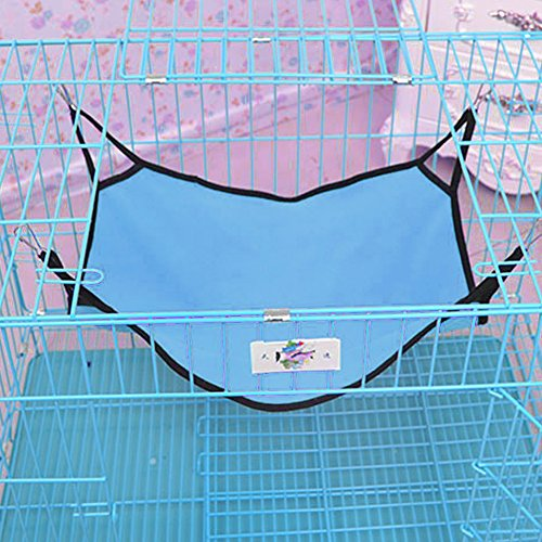 Michley Wild Time Kitty Pet Cat Hammock Bed for Cage, Blue