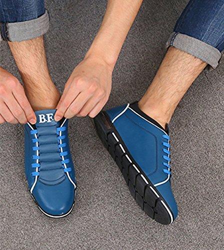 Moda il Uomini LIEBE721 Blu Libero per Degli Popolari Scarpe Casual griglia sulle Scarpe Tempo Scivolare q4WEz4r6O
