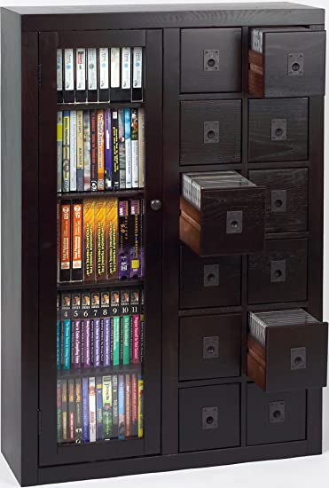 Library Style Multimedia Storage Cabinet Finish: Espresso