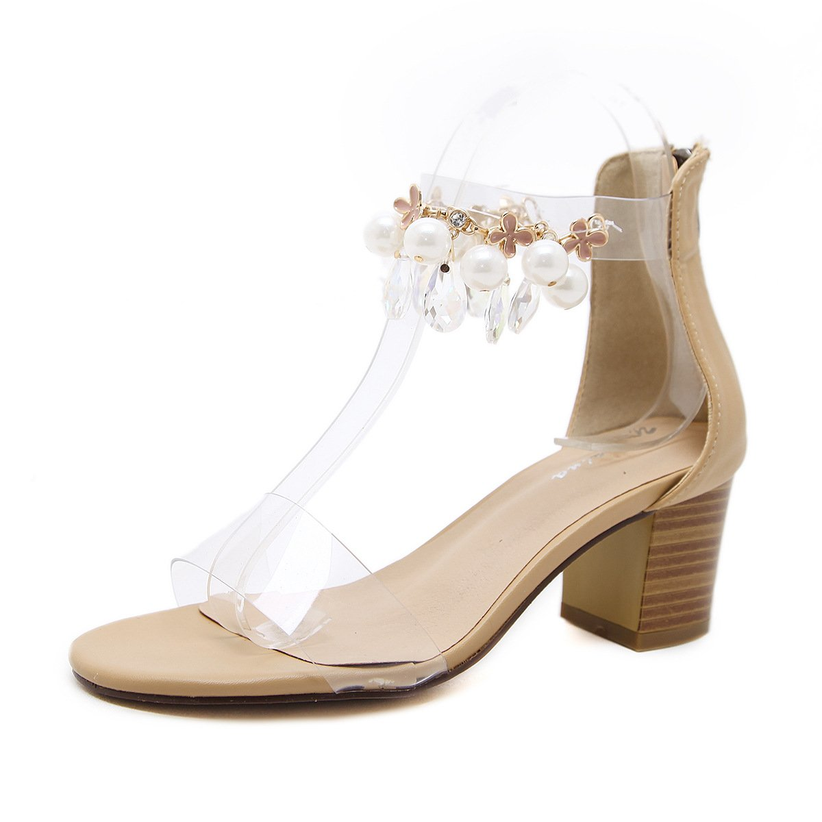 ZHZNVX Der neue Frühling und Sommer high-heel Schuhe Rom feng shui bohren Frauen Schuhe dick mit Licht - Sandalen