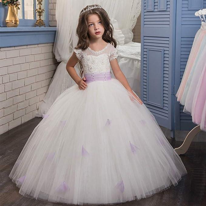 DMMW Vestido de Fiesta para Niños Vestido de Dama de Honor de ...