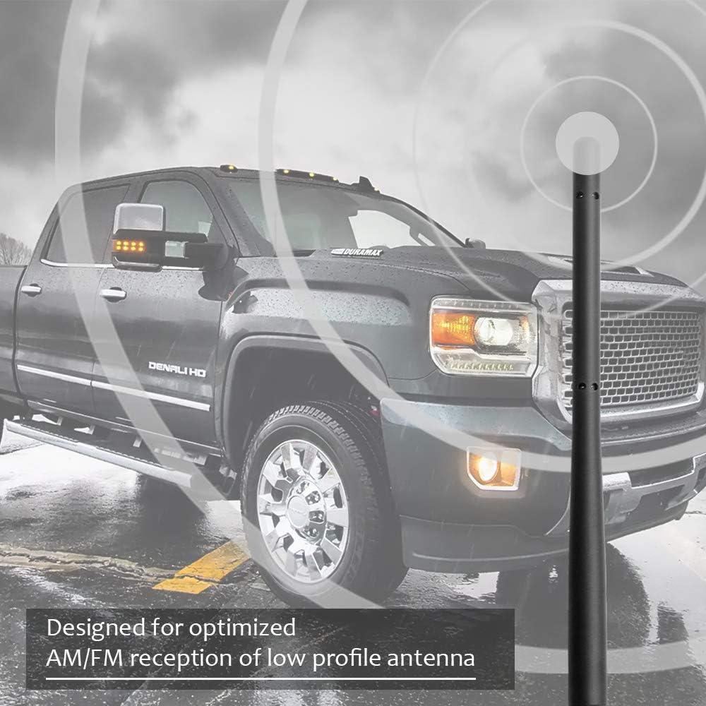 with M7 Thread Except HD KSaAuto 9 Inch Spiral Copper Core Radio Antenna for 2007-2020 GMC Sierra /& Chevy Silverado All Truck Models Designed for Optimized FM//AM Radio Reception