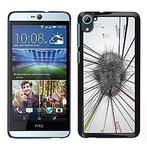 Be-Star Único Patrón Plástico Duro Fundas Cover Cubre Hard Case Cover Para HTC Desire D826 ( Abstract Mind Map White Grey Stress )