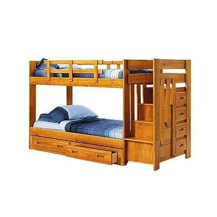 Amazon Com Chelsea Home Furniture 361548 R S Twin Over Twin Bunk