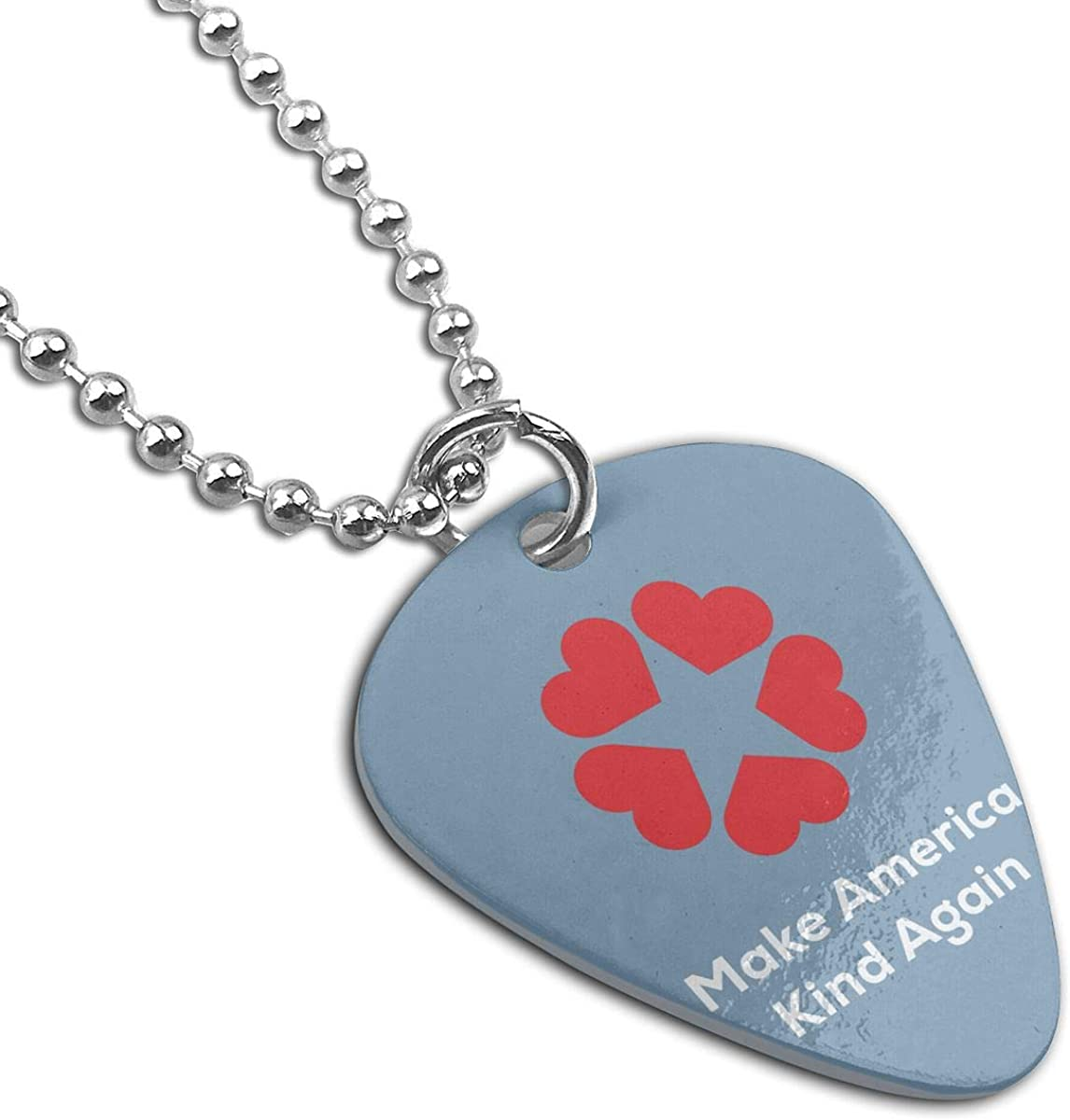 Make America Kind Again Guitar Pick Necklace Unique Custom Fashion Pet Card Keychain