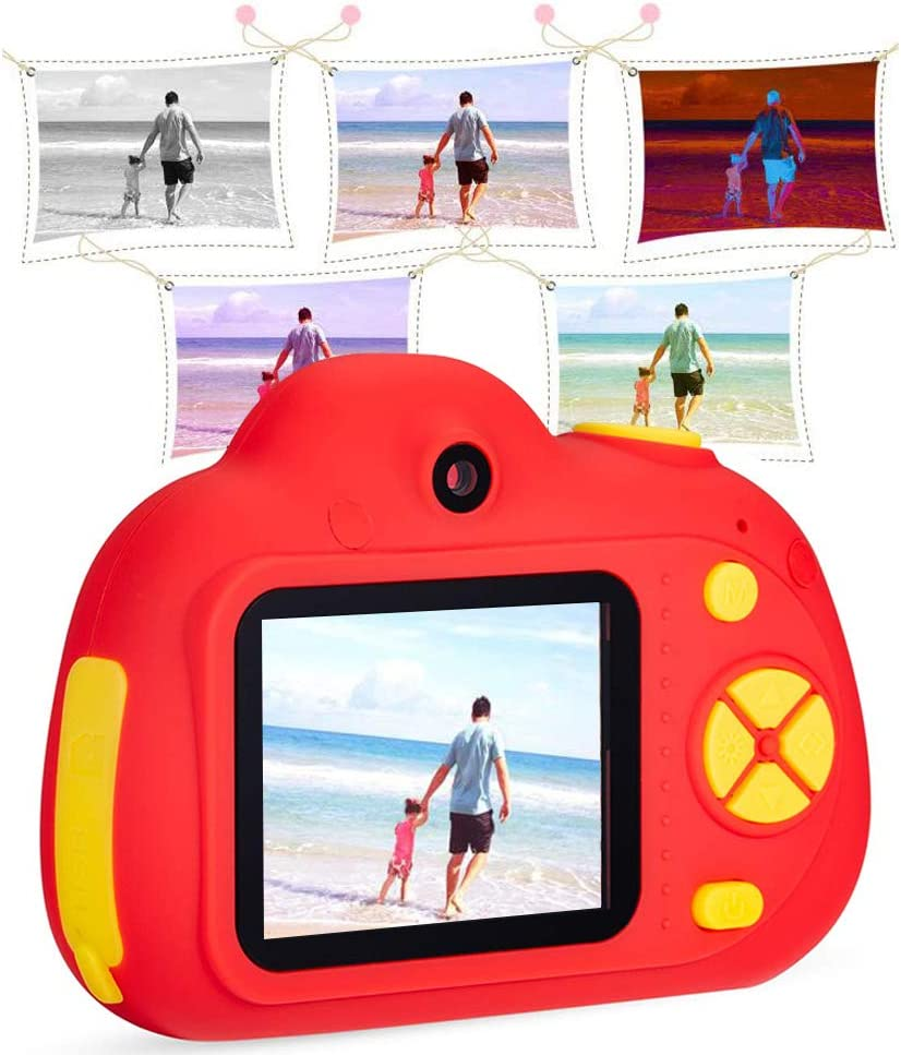 Luwsldirr Mini Kids Digital Camera Shooting with 16G Memory Card 8MP Video Recorder Camcorder Red