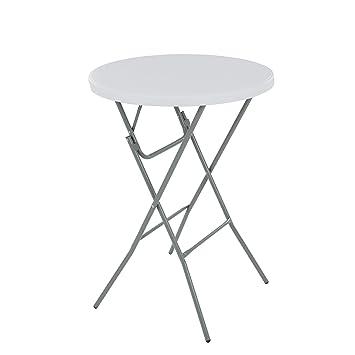 Home & Comfort - Mesa Plegable (80 cm de diámetro Metal Color ...
