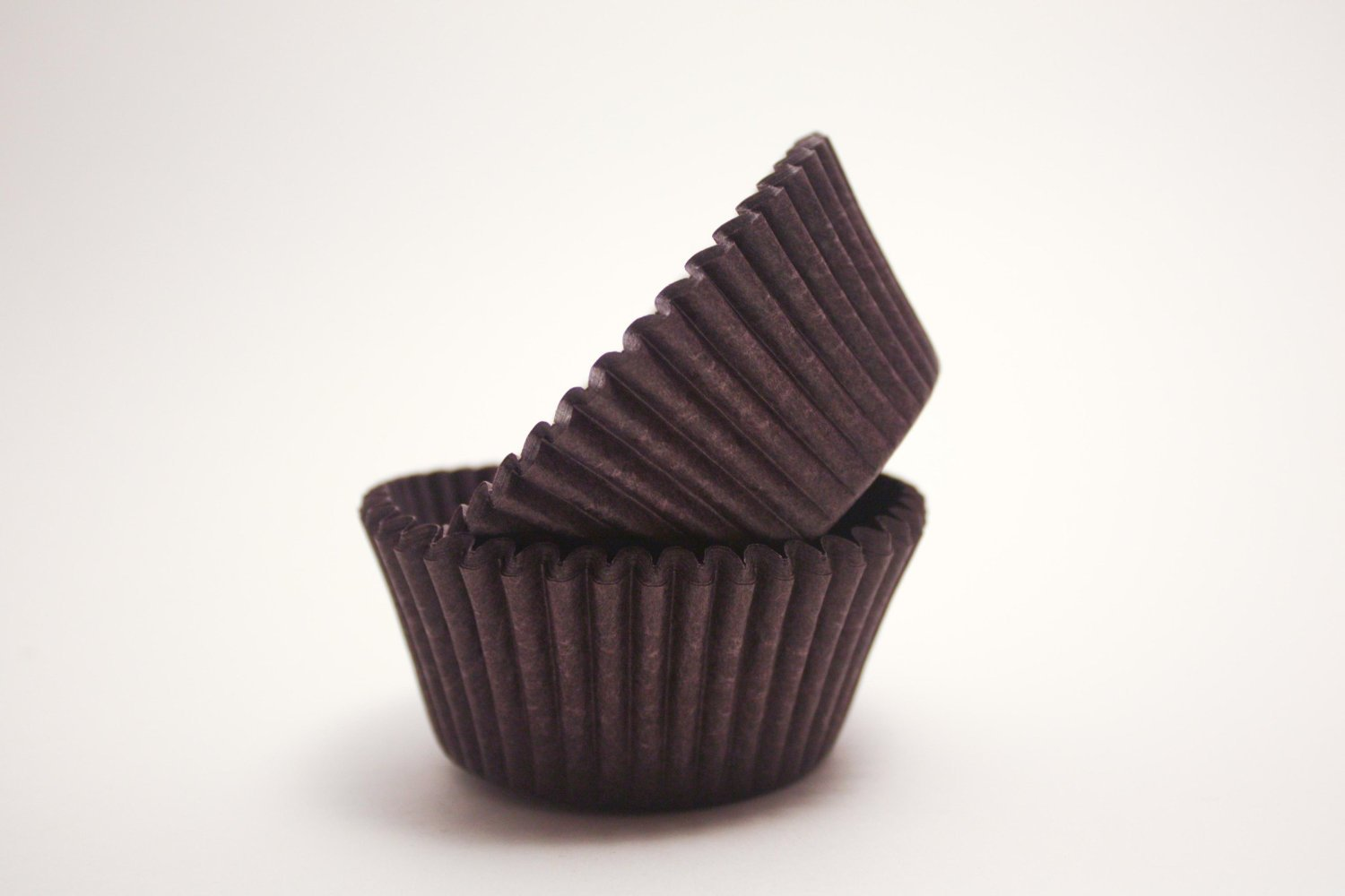DECONY Brown mini Cupcake Liners Baking Cups, 1-1/2 x 1'' = 3.5 appx. 450-count