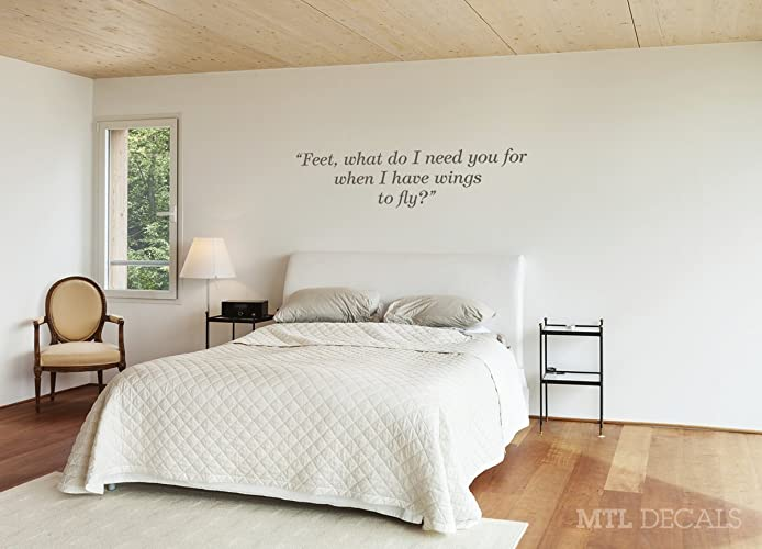 Wings To Fly Wall Decal Quote, Frida Kahlo Wall Vinyl Sticker, Bedroom Wall  Lettering