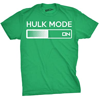 e9f5209b7 Youth Hulk Mode On T Shirt Funny Comic Book Nerdy Tee for Kids (Green)