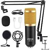 VONOV Streaming Microphone, Condenser Microphone Bundle 192kHz/24bit Professional Cardioid Studio Condenser Mic Include…