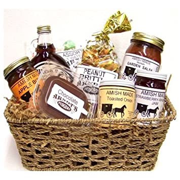 Image Unavailable. Image not available for. Color: Amish Gift Basket ...
