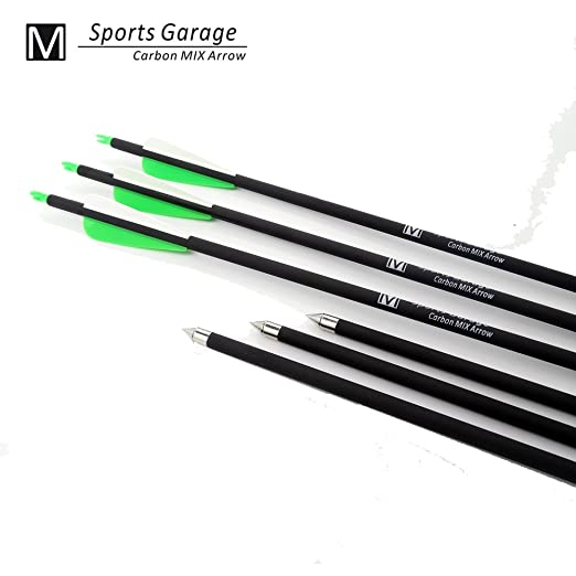 2 opinioni per 12pcs GREEN Hunting Arrow Hunter Nocks Fletched Arrows Fiberglass Target