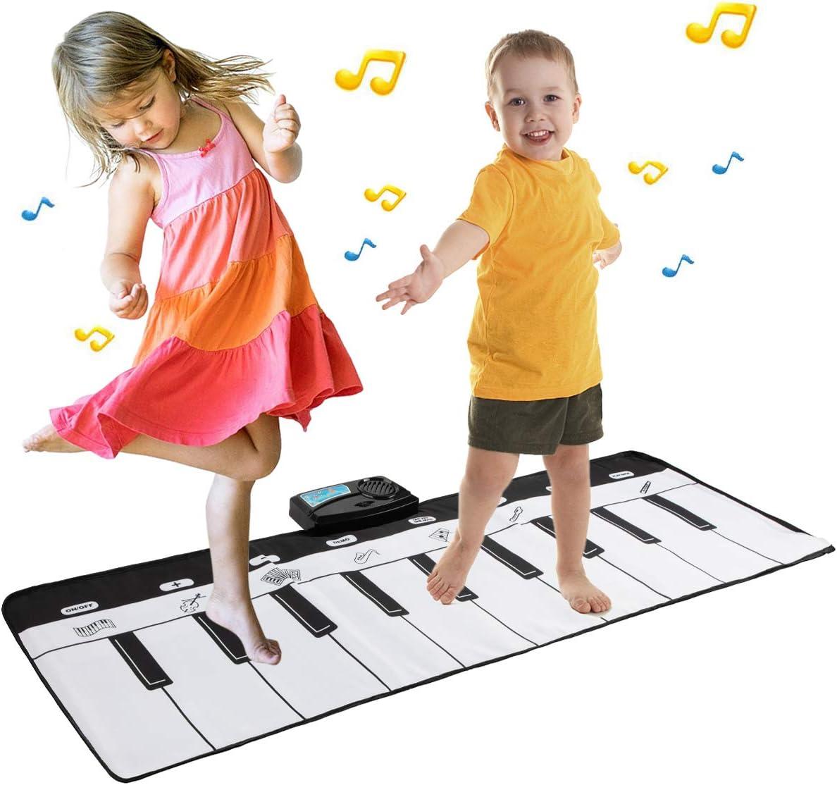 EXTSUD Alfombra Piano de Suelo Alfombrilla Musical Estera de Baile Tapete para Niños 110 * 36cm