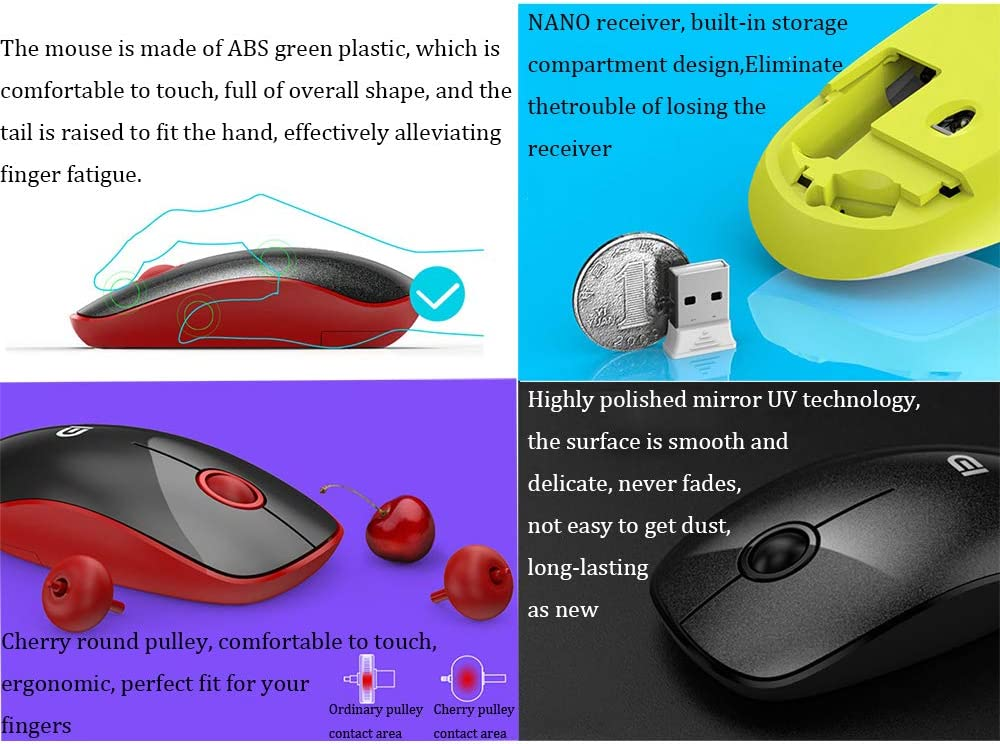 2.4GHz Wireless Transmission Mute Keyboard USB Notebook Mini Mouse Home Ultra-Thin Keyboard electronic product Wireless Mouse and Keyboard Set