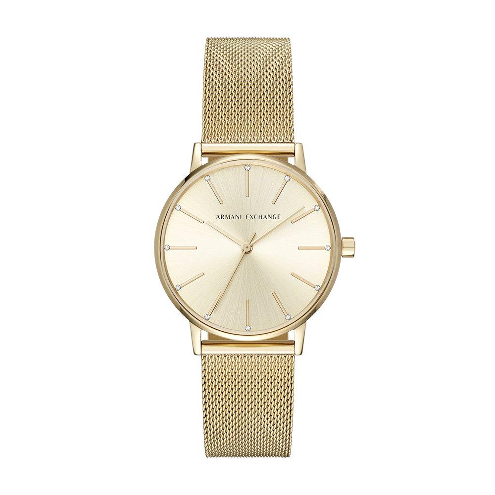 Armani Exchange Womens Dress Gold Watch AX5536