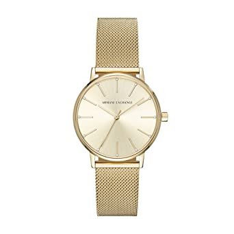 Armani Exchange Womens Dress Gold Watch AX5536
