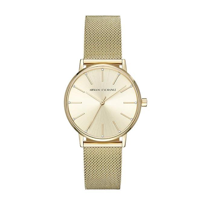 Amazon.com: Armani Exchange Womens Dress Gold Watch AX5536: Armani Exchange: Watches