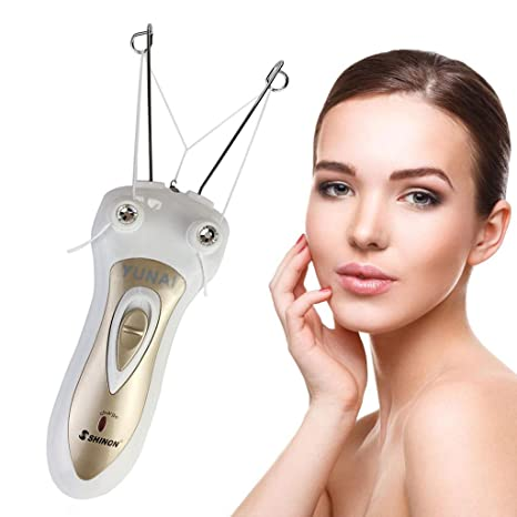 YUNAI dama Depilador Vello facial Hilo de algodón removedor de pelo Dispositivo de depilación
