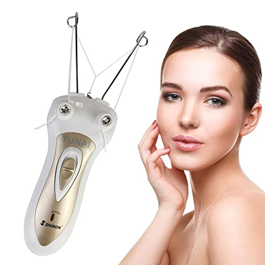 YUNAI dama Depilador Vello facial Hilo de algodón removedor de pelo Dispositivo de depilación: Amazon.es: Belleza