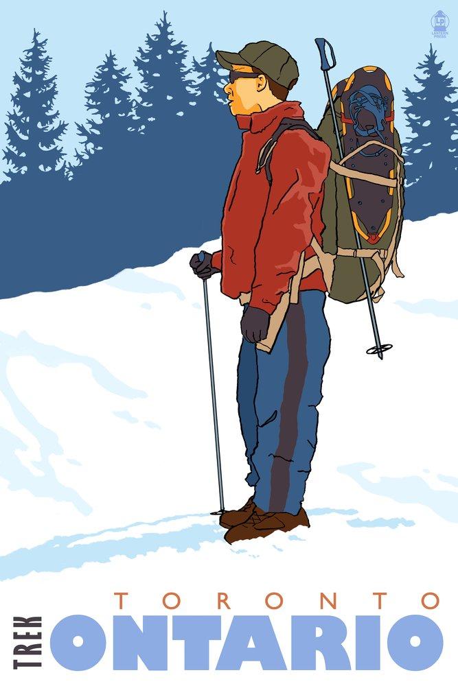 雪Hiker – トロント、オンタリオ 36 x 54 Giclee Print LANT-28316-36x54 36 x 54 Giclee Print  B01MG3L0VM