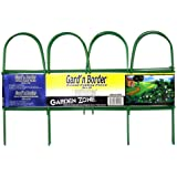 Origin Point Brands 41010 Gard'n Border Round Folding Fence, Green, 10-Inch X 10-Feet