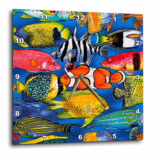 3dRose dpp_5741_1 LLC Tropical Fish Wall Clock, 10 by 10-Inch Review