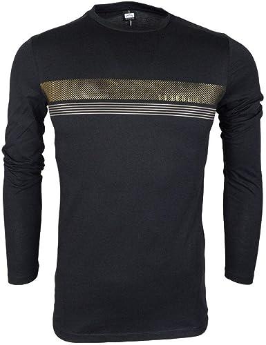 883 Police Angle Slim Fit Camiseta de manga larga negra ...