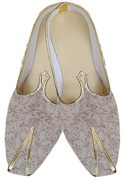 Mens Plum Wedding Shoes Bollywood MJ014141