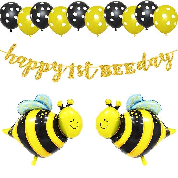 Amazon.com: LetDec - Pancarta de cumpleaños para primer ...