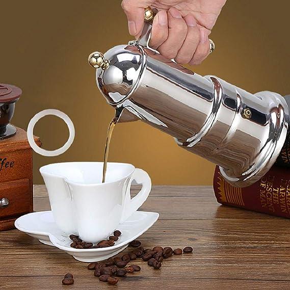 FDGNJFGH Cafetera-Espresso-Acero Inoxidable, Superficie cromada ...