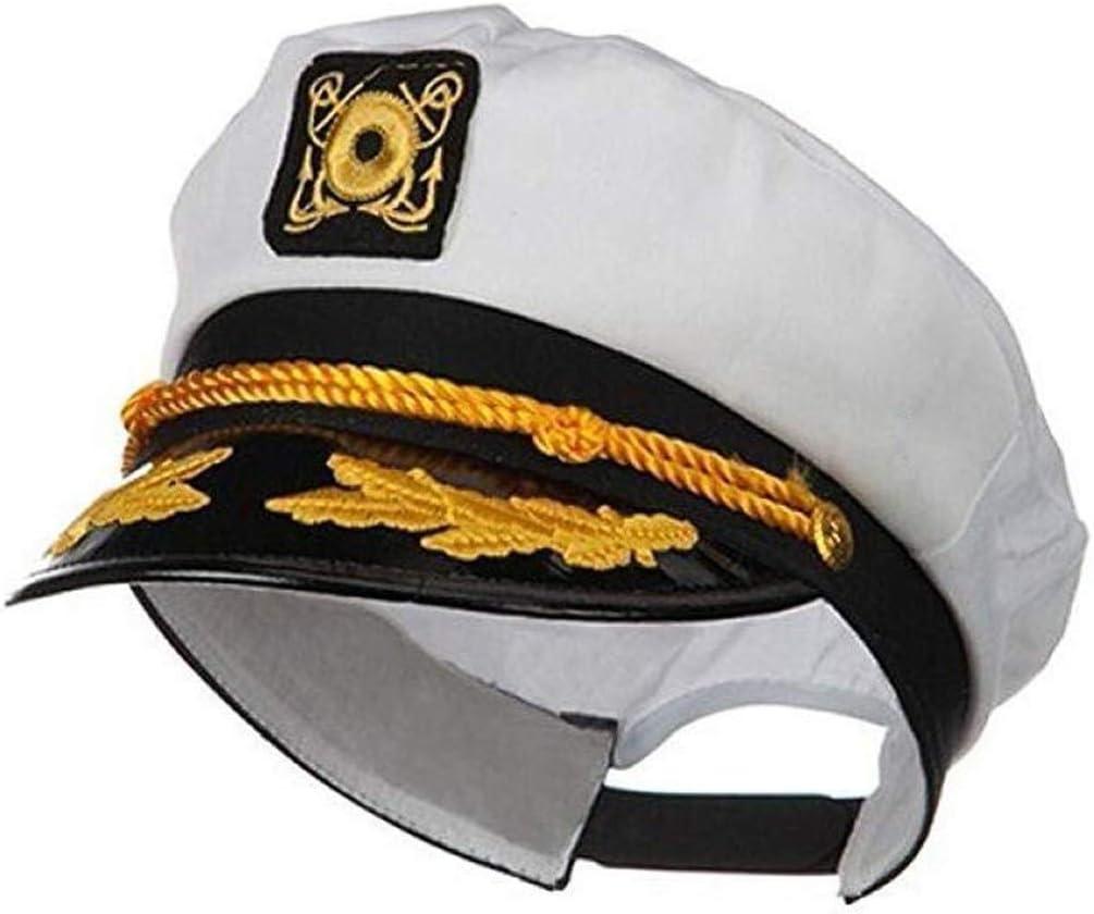 KANGMOON Captain's Yacht Cap Adjustable for Unisex Adult&Teens,Navy Marine Admiral Style Hat Boat Captain Hat for Men Women Costume Favor