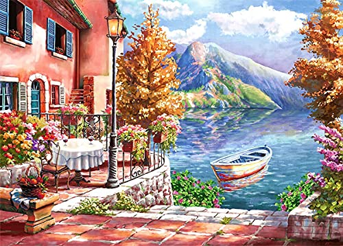 Jigsaw Puzzle 1000 Piece for Adults Lakeside-Scenery 1000 Pieces Fun Family Puzzles for Adults Teens Kids 1000 Pieces Impossible Puzzles Games Gift Toys Home Decoration