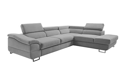 Amazon.com: EQsalon LAGOZZO Modern L-Shaped Sectional Corner ...