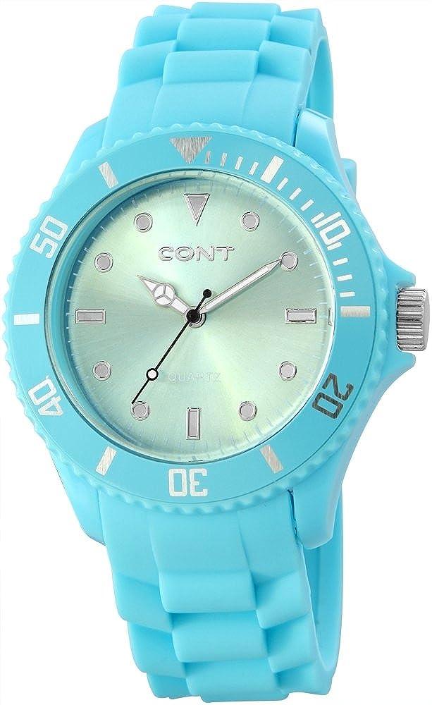 CONT RP3458350003 - Reloj analógico de Cuarzo para Hombre, Correa de Silicona Color Azul