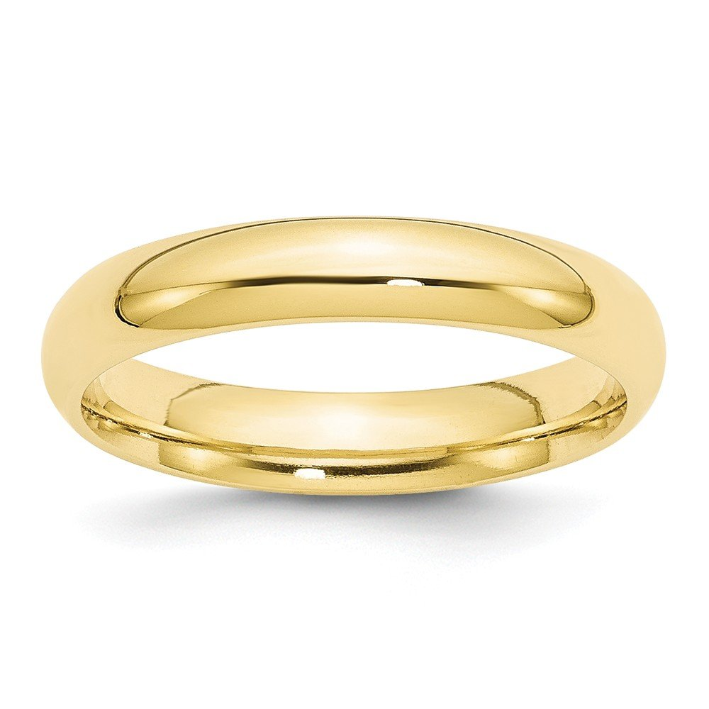 10k Yellow Gold 4mm Standard Comfort Fit Mens Womens Wedding Anniversary Band