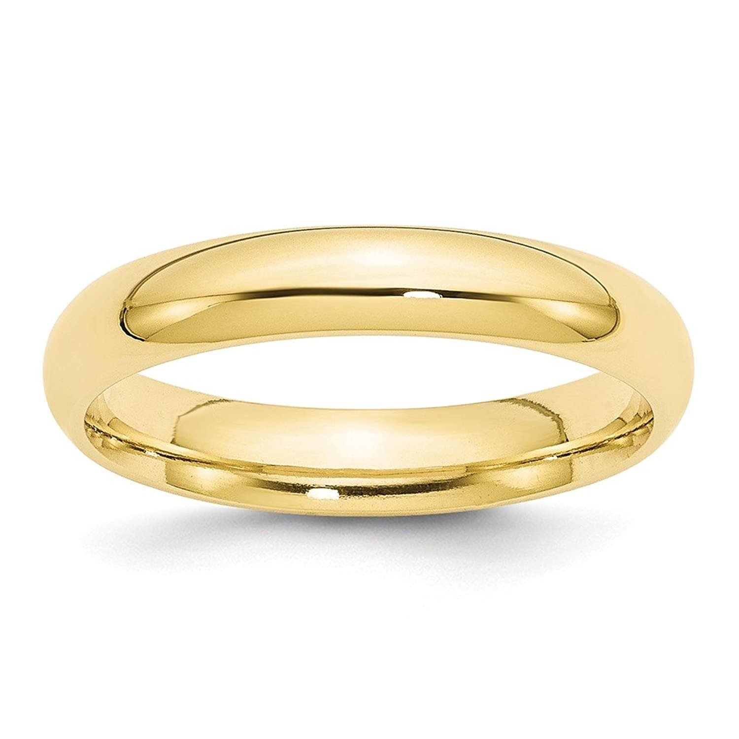 10k Yellow Gold 4mm Standard Comfort Fit Mens Womens Wedding Anniversary Band Size 10.5