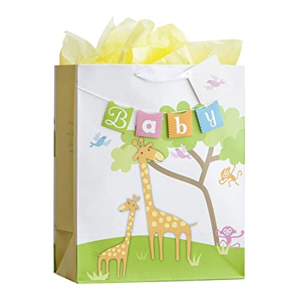sc 1 st  Amazon.com & Amazon.com : Large Specialty Gift Bag - Baby - Giraffe : Office Products