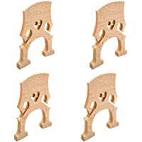 MagiDeal 4 Pieces 4/4 Size Cello Maple Bridge Musical Instrument Replacement Accessory