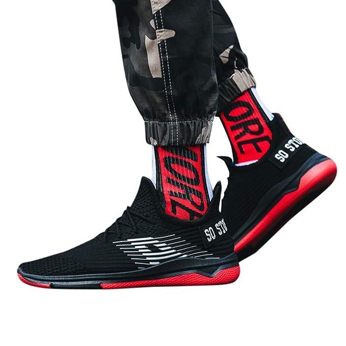 ABsolute Zapatos Zapatos Hombre Deportivos Malla Transpirable de los Hombres de Moda Zapatos Hombre Casuales Zapatillas de Estudiante Zapatillas Hombre ...