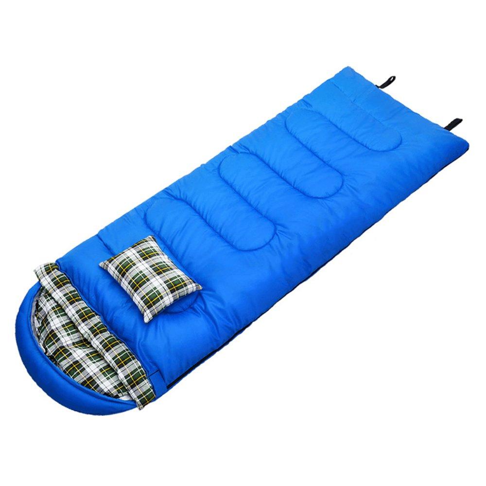 LJHA shuidai エンベロープ寝袋/ピロー/アウトドア/グレート4シーズン旅行キャンプハイキング長方形の寝袋(215 * 70センチメートル) (サイズ さいず : Blue-2.5KG) B07FCDL3NZ Blue-2.5KG  Blue-2.5KG