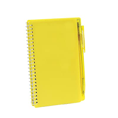 Fun Express - Yellow Spiral Note Books & Pen Sets - Stationery - Notepads - Note Books & Journals - 12 Pieces: Toys & Games