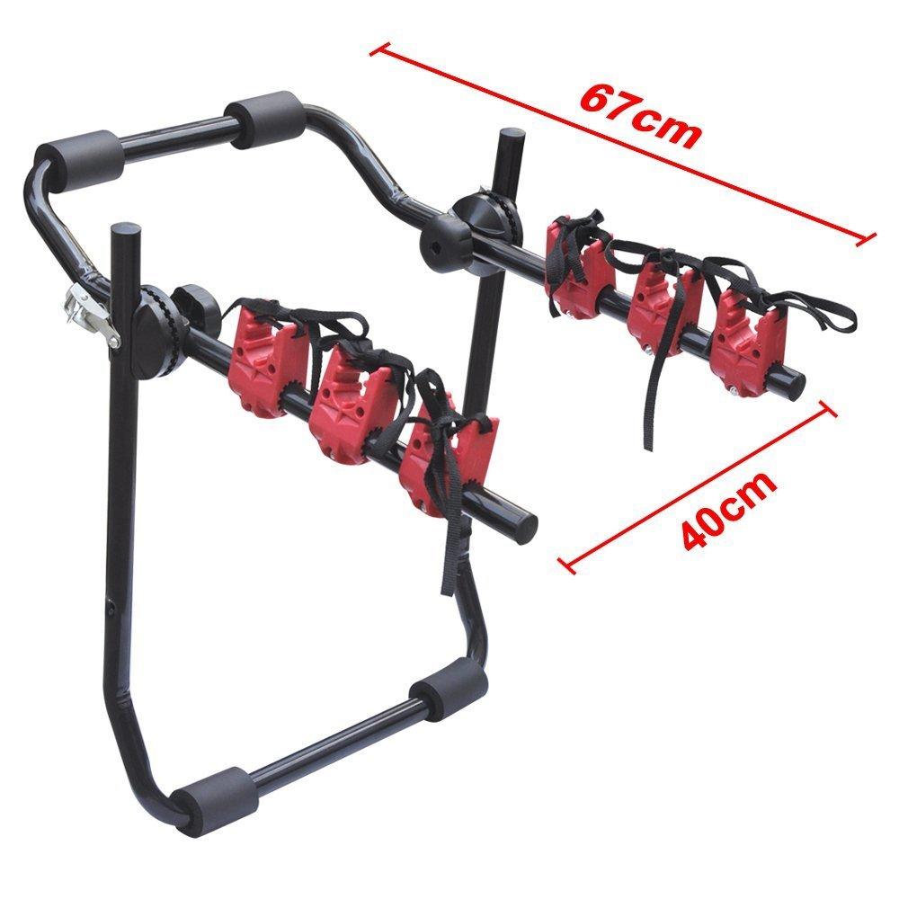Car Bicycle Carrier Rack,Universal Rear Mounted 3 Bicycle Set